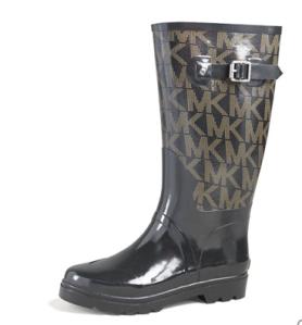Michael Kors black rain boots